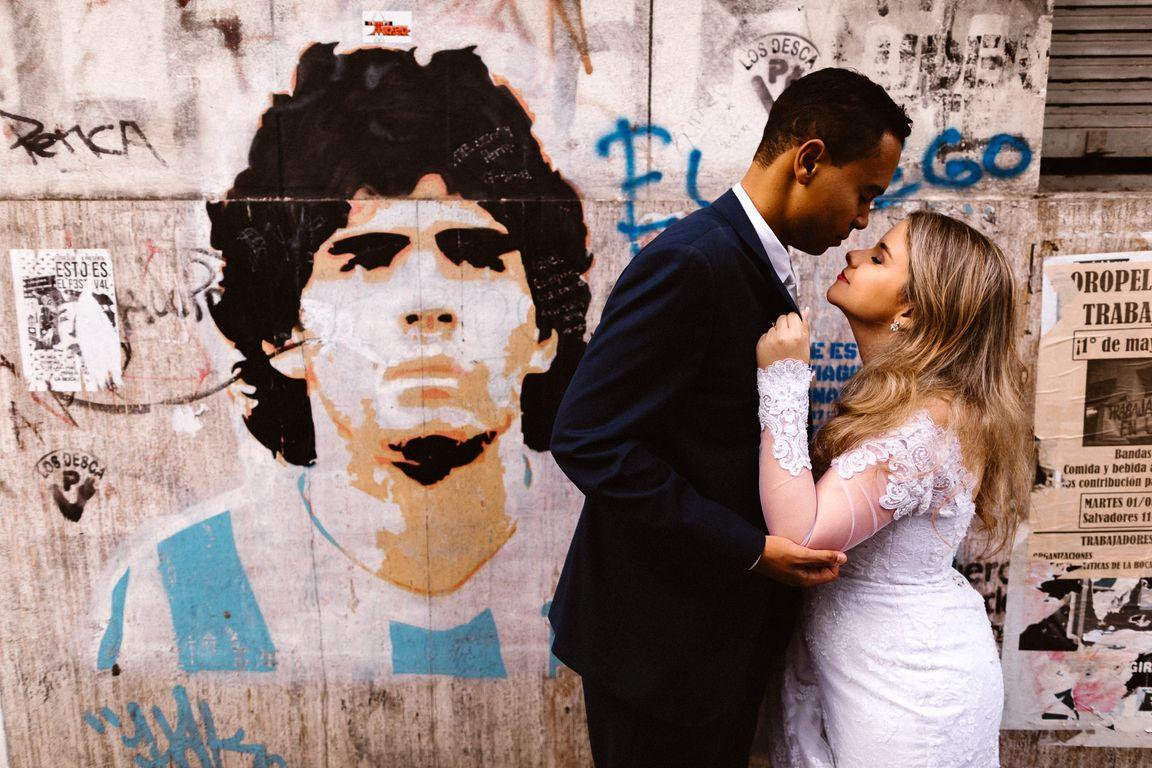 Ensaio casal Maradona Buenos Aires