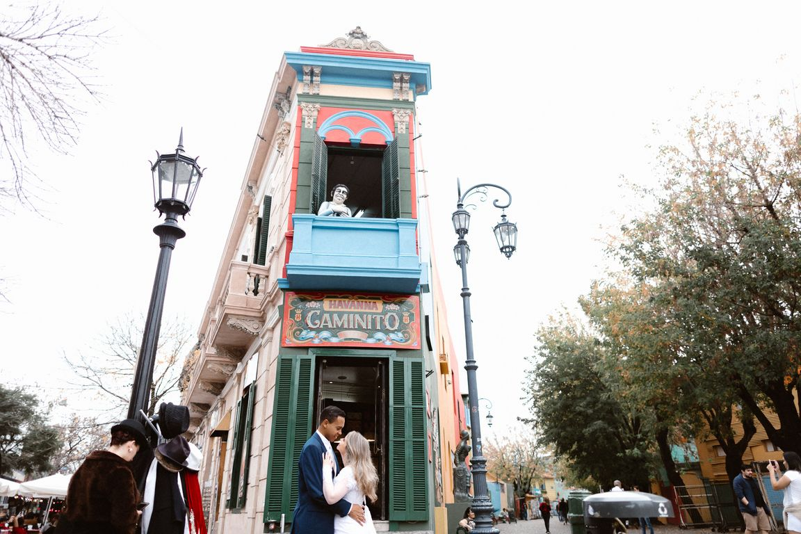 Ensaio Gaminito em Buenos Aires