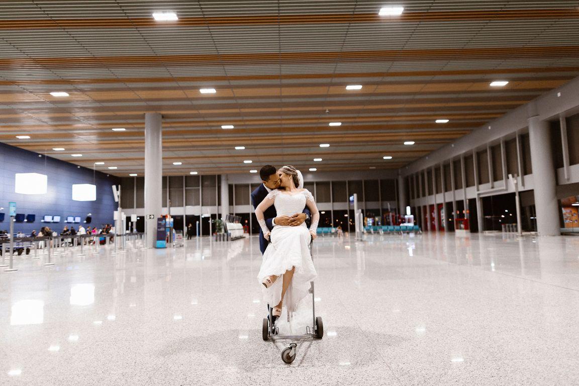 Noiva no Aeroporto em Belo Horizonte